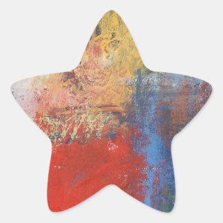 Modern Abstract Art Star Sticker