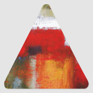 Modern Abstract Art Triangle Sticker