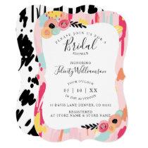 Modern Abstract Artistic Bridal Shower Invitation