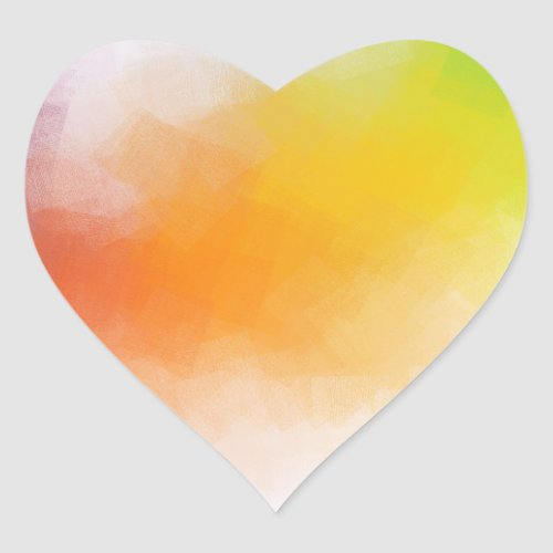 Modern Abstract Artwork Colorful Blank Template Heart Sticker