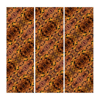 Modern Abstract Autumn Leaf Silhouette Triptych