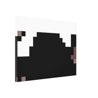 Modern Abstract Black and White Canvas Art