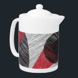 """Modern Abstract Black Red Teapot<br><div class=""""desc"""">An abstract expressionist work based on family and the strength and power it can hold.</div>"""
