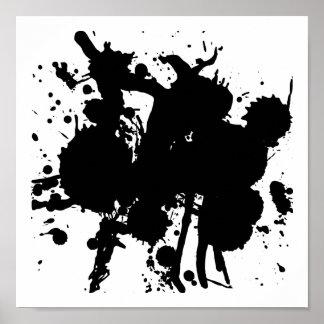 Modern Abstract Black Splash Poster