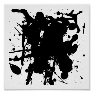 Modern Abstract Black Spots Poster
