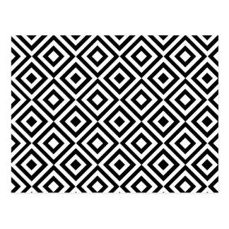 Black and white geometric patterns postcards zazzle for Modern patterns black and white