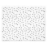 Modern abstract black white paint polka dots photo print