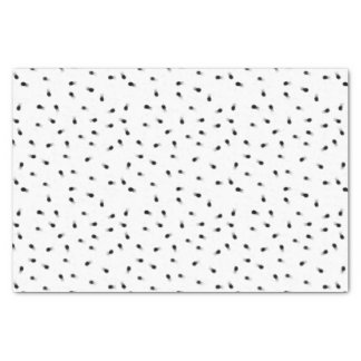 Modern abstract black white paint polka dots tissue paper