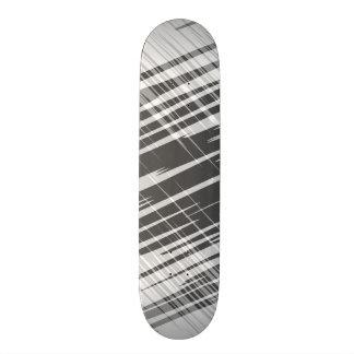 Modern abstract black white stripes pattern skateboard deck