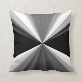 Modern abstract black white triangles pattern throw pillow