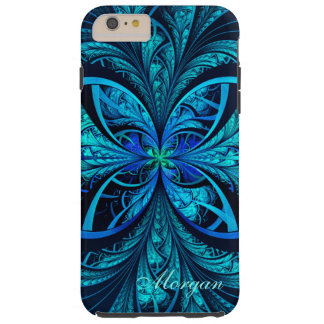 Modern Abstract Blue Green Fractal iPhone 6 Case