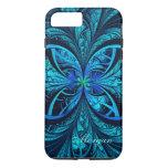 Modern Abstract Blue Green Fractal iPhone 7 Case