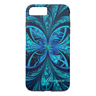 Modern Abstract Blue Green Fractal iPhone 7 Case