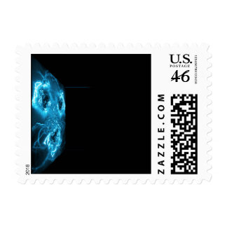 Modern Abstract Blue Hi Tech Postage