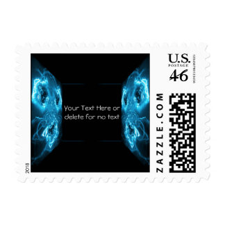 Modern Abstract Blue Hi Tech Postage Stamp
