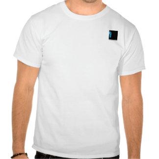Modern Abstract Blue Hi Tech Tee Shirts
