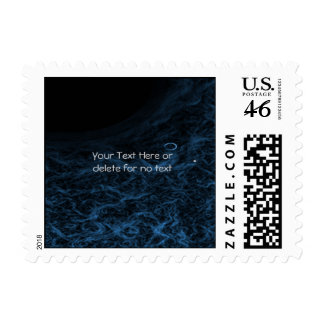 Modern Abstract Blue Lens Stamp