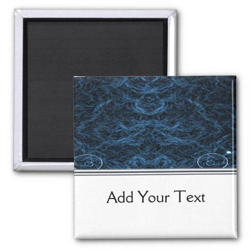 Modern Abstract Blue Lens Refrigerator Magnet