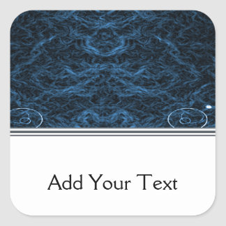 Modern Abstract Blue Lens Square Sticker