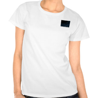 Modern Abstract Blue Lens Tee Shirts