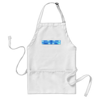 Modern Abstract Blue Office Adult Apron
