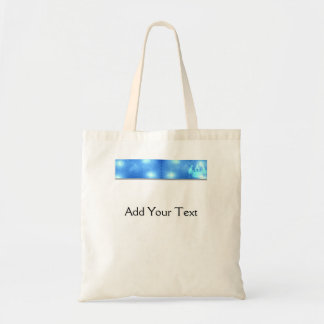 Modern Abstract Blue Office Canvas Bags