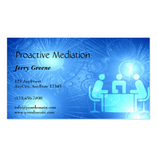 Modern Abstract Blue Office Business Card
