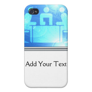 Modern Abstract Blue Office iPhone 4/4S Cover