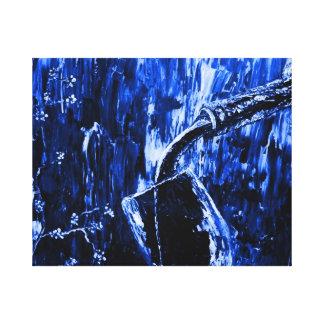 Modern Abstract Blue Wine Bottle Wall Art Canvas Prints