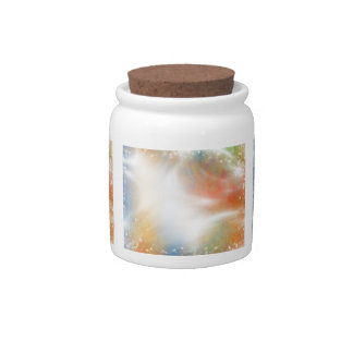 Modern Abstract Bright Light Color Explosion Candy Dishes