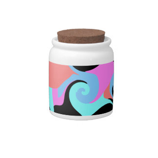 Modern Abstract Candy Jar