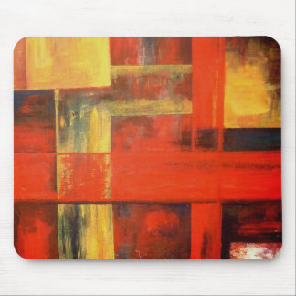 Modern Abstract Canvas Painting Art Mouse Pad