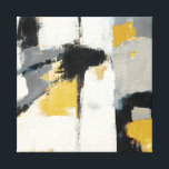 """Modern Abstract Canvas Print<br><div class=""""desc"""">&#169; Mike Schick / Wild Apple.  An abstract image featuring gray,  black,  white,  and gold colors.</div>"""
