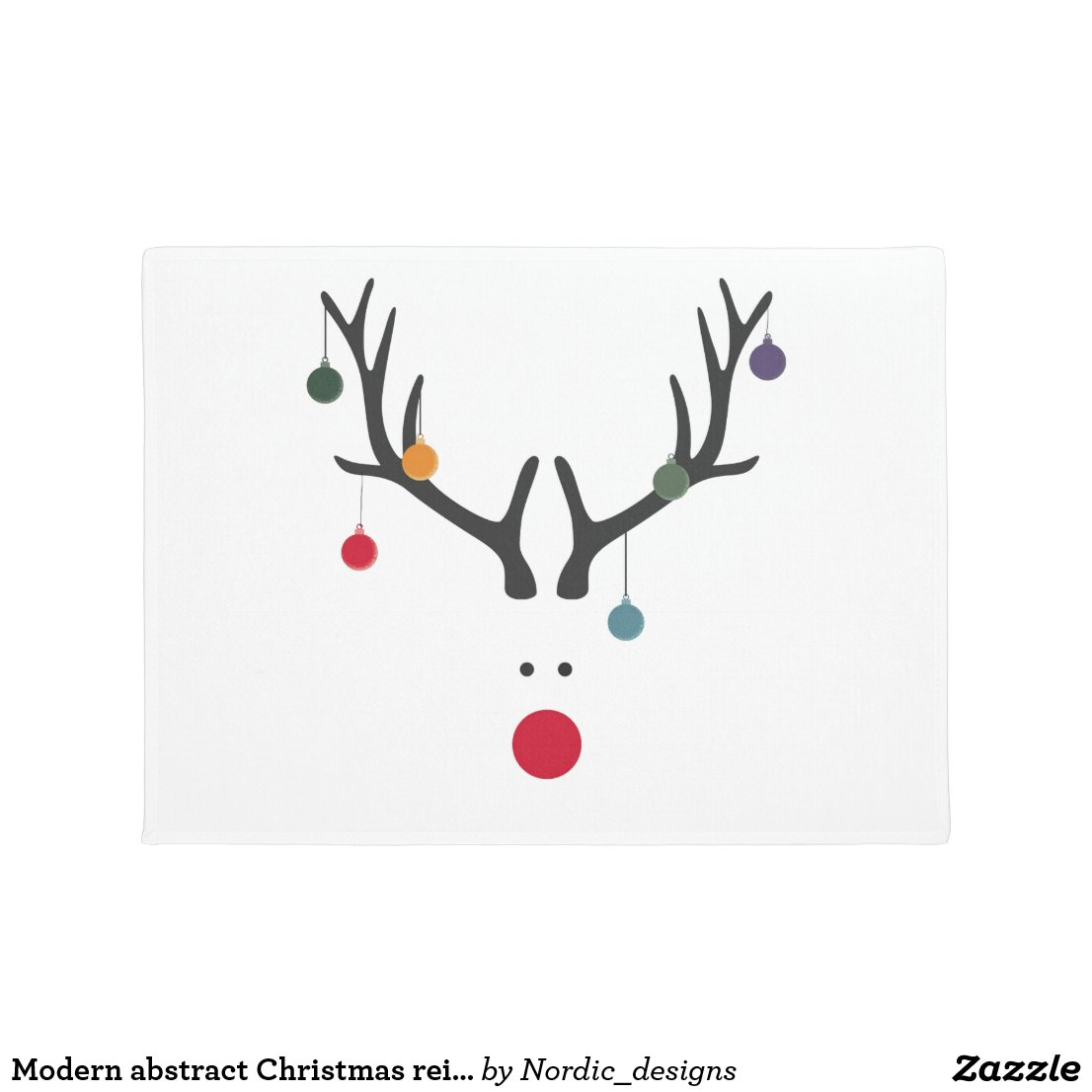 Modern abstract Christmas reindeer with baubles
