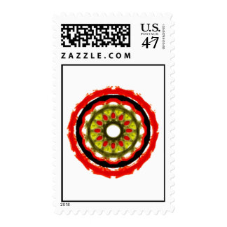 Modern abstract circle pattern postage