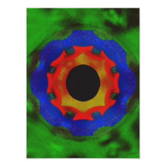 Modern abstract circle pattern poster