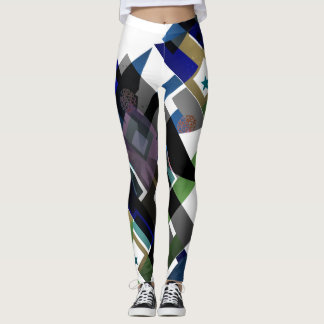Modern Abstract Colorful Geometric Shapes Leggings