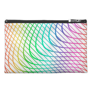 Modern Abstract Colorful Line Art Travel Accessory Bag