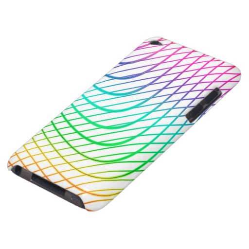 Modern Abstract Colorful Line Art Barely There iPod Cover