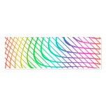 Modern Abstract Colorful Line Art Double-Sided Mini Business Cards (Pack Of 20)