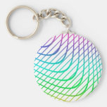 Modern Abstract Colorful Line Art Keychains