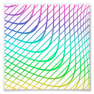 Modern Abstract Colorful Line Art Photographic Print