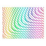 Modern Abstract Colorful Line Art Postcard