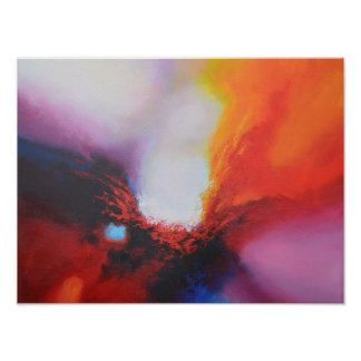 Modern Abstract Colorful Painting Poster