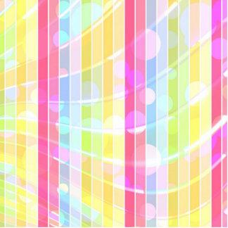 Modern abstract colorful stripes polka dots cutout