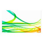 Modern Abstract Colorful Swirls Business Card