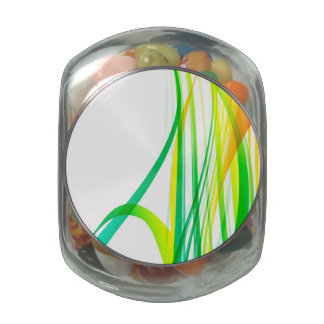 Modern Abstract Colorful Swirls Glass Candy Jar