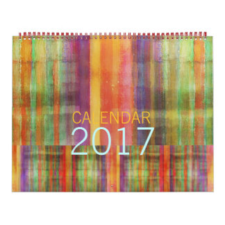 Modern Abstract Contemporary Art Calendar 2017