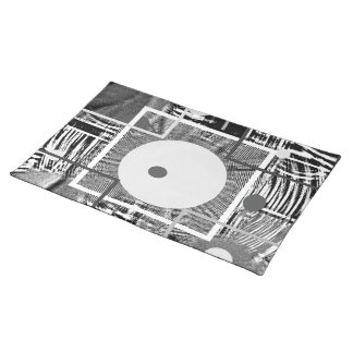 Modern  Abstract:  Country  Digital,  Folk Art Cloth Placemat