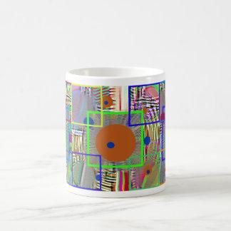 Modern  Abstract:  Country  Digital,  Folk Art Coffee Mugs